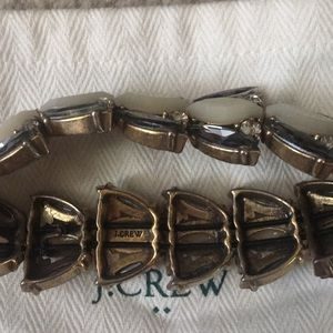 J. Crew Jewelry - J crew stretchy bracelet bangle crystals grey NWOT